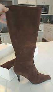 womens brown suede boots size 9 s lilly pulitzer brown suede boots size 9 5 knee high ebay