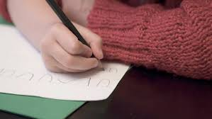 preschool lined writing paper 6 tips on how to help young children learn to write close up of child struggling to keep letters even