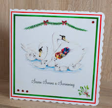 handmade christmas card made in craft artist using claire tarling