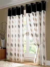 black and white curtains for living room fully lined pair eyelet