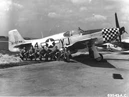 Squadron Canopies by P 51b Mustang Of 351st Fighter Squadron At Raf Raydon Suffolk Uk