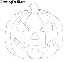 halloween line drawings how to draw a halloween pumpkin drawingforall net