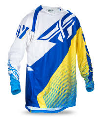fly motocross jersey aomc mx fly racing evo 2 0 jersey blu wht ylw