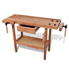 workbench woodworking hard wood with drawer 2 morse amazon co uk