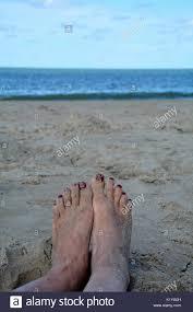 red toenails stock photos u0026 red toenails stock images alamy