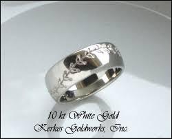 baseball wedding band kerkes goldworks custom wedding rings