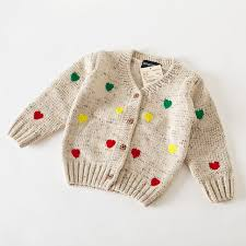 2015 autumn winter knit sweaters baby v neck
