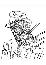 freddie krueger halloween halloween coloring pages for adults