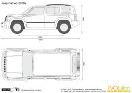 jeep front drawing blank templates struckndesign