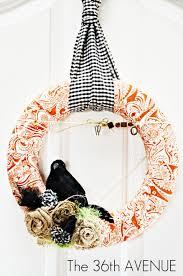 fabric wreath tutorial the 36th avenue