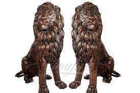 lion statues for sale large sitting bronze lion statues for decoration marble