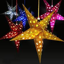 star decor for home 1pc home decor christmas tree ornament party hanging pentagram