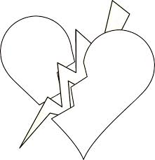 broken heart coloring pages peter clipart clipart image 33709