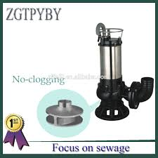 Single Phase Water Pump Motor Price Aliexpress Com Buy 4kw 5 5hp Submersible Sewage Pump With Single