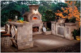 Portable Outdoor Kitchens - beautiful when you place fireplace in outdoor kitchen designs 10