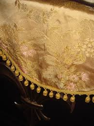 Extra Long Valance Extra Long Vintage Golden Brocade Valance Sku 1048 For Sale