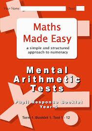 mental arithmetic tests year 5 pupil response booklet 1