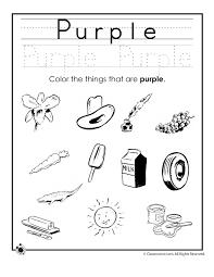 learning colors worksheets for preschoolers color purple worksheet