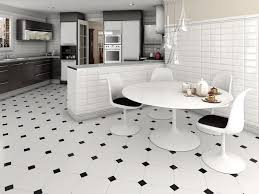 black and white kitchen floor ideas white kitchen with black and harlequin tile floor within ideas 9