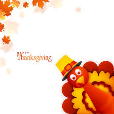 turkey bird on maple leaves background for happy thanksgiving