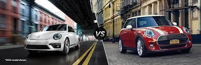 volkswagen mini 2017 volkswagen beetle vs 2017 mini cooper