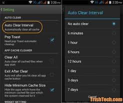 android clear system cache automatically clear app cache in android at regular intervals