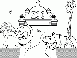 printable zoo animal coloring pages aecost net aecost net