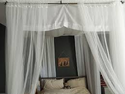 Custom Bedroom Curtains White Lovable Canopy Bed Curtains For Full Size With King Bed Tikspor