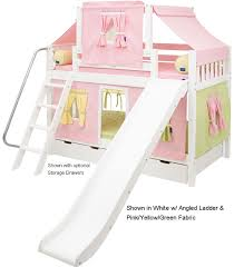 Princess Bunk Bed With Slide Maxtrix Princess Castle Bunk Beds Bedroom Furniture And