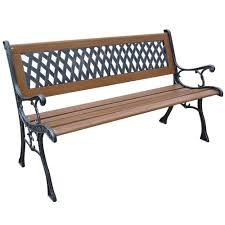 antique iron wood garden park bench ornate design english pics