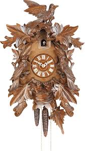 Regula Cuckoo Clock Cuckoo Clock 8 Day Movement Carved Style 43cm By Hekas 842 Ex