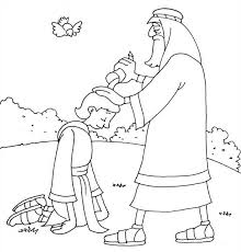 samuel coloring pages from the bible samuel anointing david in the story of king saul coloring page