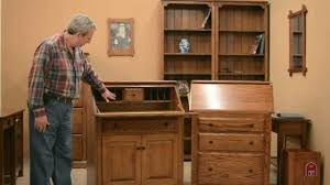 Secretary Desk With Drawers by Barn Furniture Amish Secretary Desks Youtube