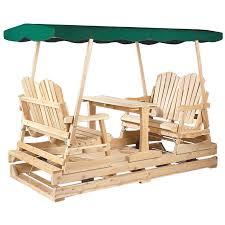 Cedar Patio Furniture Sets - rustic natural cedar deluxe wooden outdoor double glider loveseat