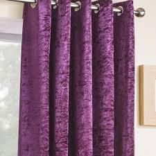 Plum Velvet Curtains Luxury Crushed Velvet Velva Plum Eyelet Curtains Eyelet Curtains