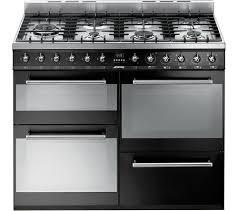 Smeg 110 Gloss Black Induction Smeg Bm93bl 90 Cm Dual Fuel Range Cooker Black Compare Bluewater