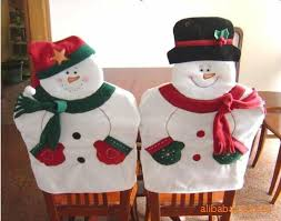 snowman chair covers lovely christmas chair covers mr mrs santa claus christmas