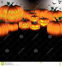 halloween sky background happy halloween pumpkin on black night sky background stock