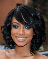 black women formal curly bob hairstyle wavy weaves for black women