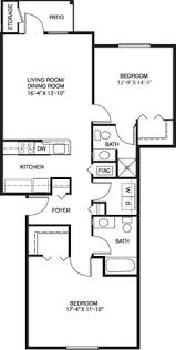 Two Bedroom Floor Plan Spice Tree Apartments Two Bedroom Apartment Floor Plans And