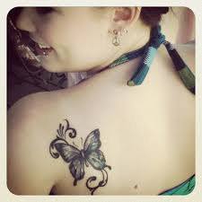 shoulder butterfly tattoomagz