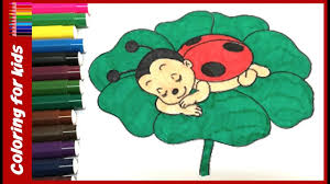 colouring pages for kids how to color baby ladybug coloring page