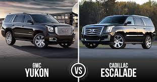 cadillac escalade vs gmc yukon battle for best big luxury vehicle