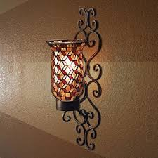 Mosaic Wall Sconce 19 Mosaic Wall Sconces For Candles Black Metal And Mosaic Glass