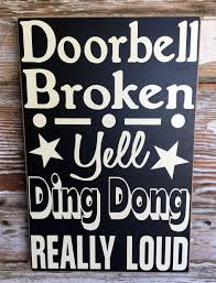 doorbell broken sign u0026 image 1