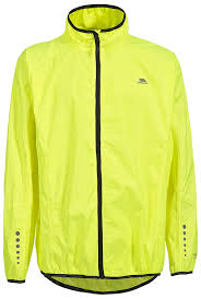 mens hi vis cycling jacket trespass men u0027s grafted cycling jacket hi visibility yellow x