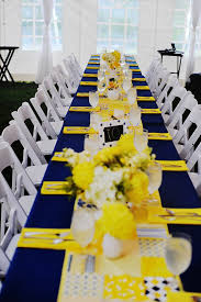 blue and yellow decor navy blue and yellow wedding reception navy blue silver and