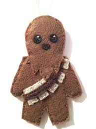 wars felt chewbacca ornament by lumpybuttonsgifts more