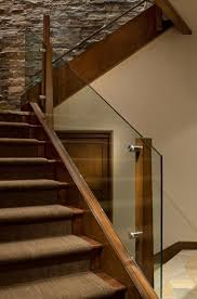 Wooden Banister Rails Best 25 Glass Stair Railing Ideas On Pinterest Glass Stairs