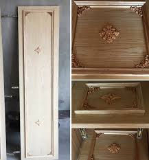 wood appliques for cabinets 12 12cm wood floral carving applique home carved wood appliques for